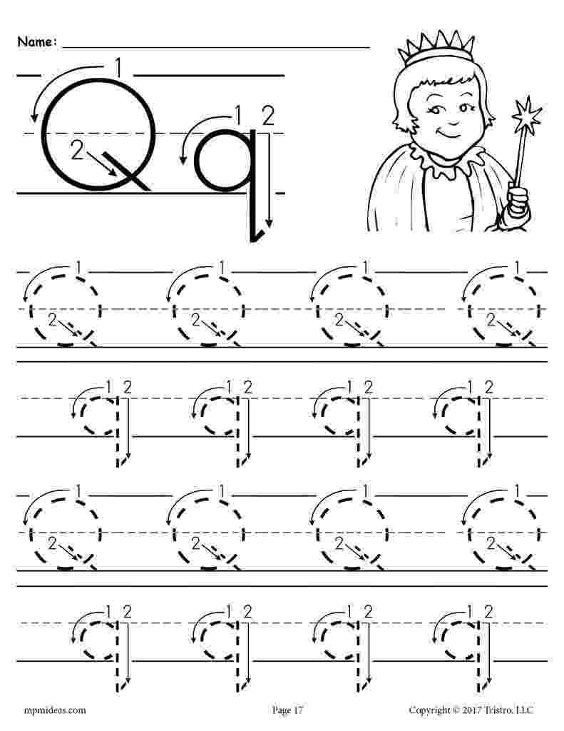 letter q tracing worksheet letter q tracing printable worksheet myteachingstationcom worksheet q tracing letter