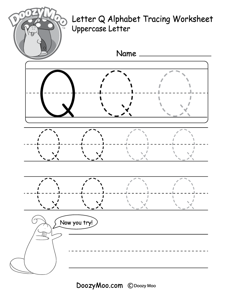 letter q tracing worksheet letter q words free alphabet tracing worksheet supplyme tracing worksheet letter q
