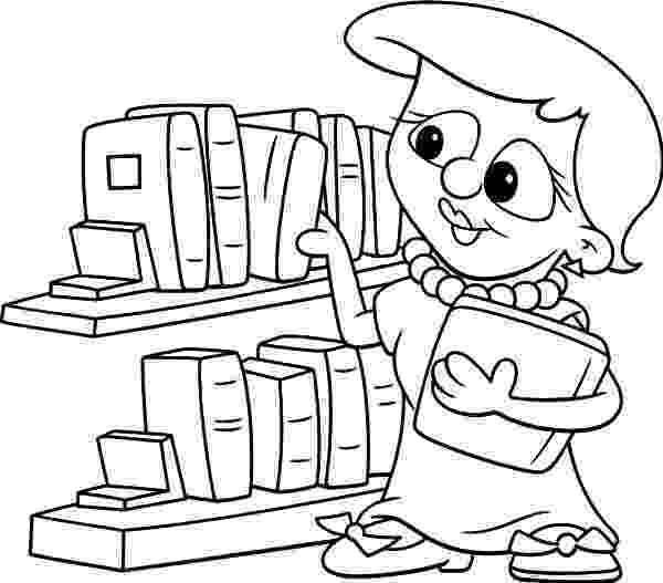 library coloring pages 33 best images about library beginning of the year on coloring library pages