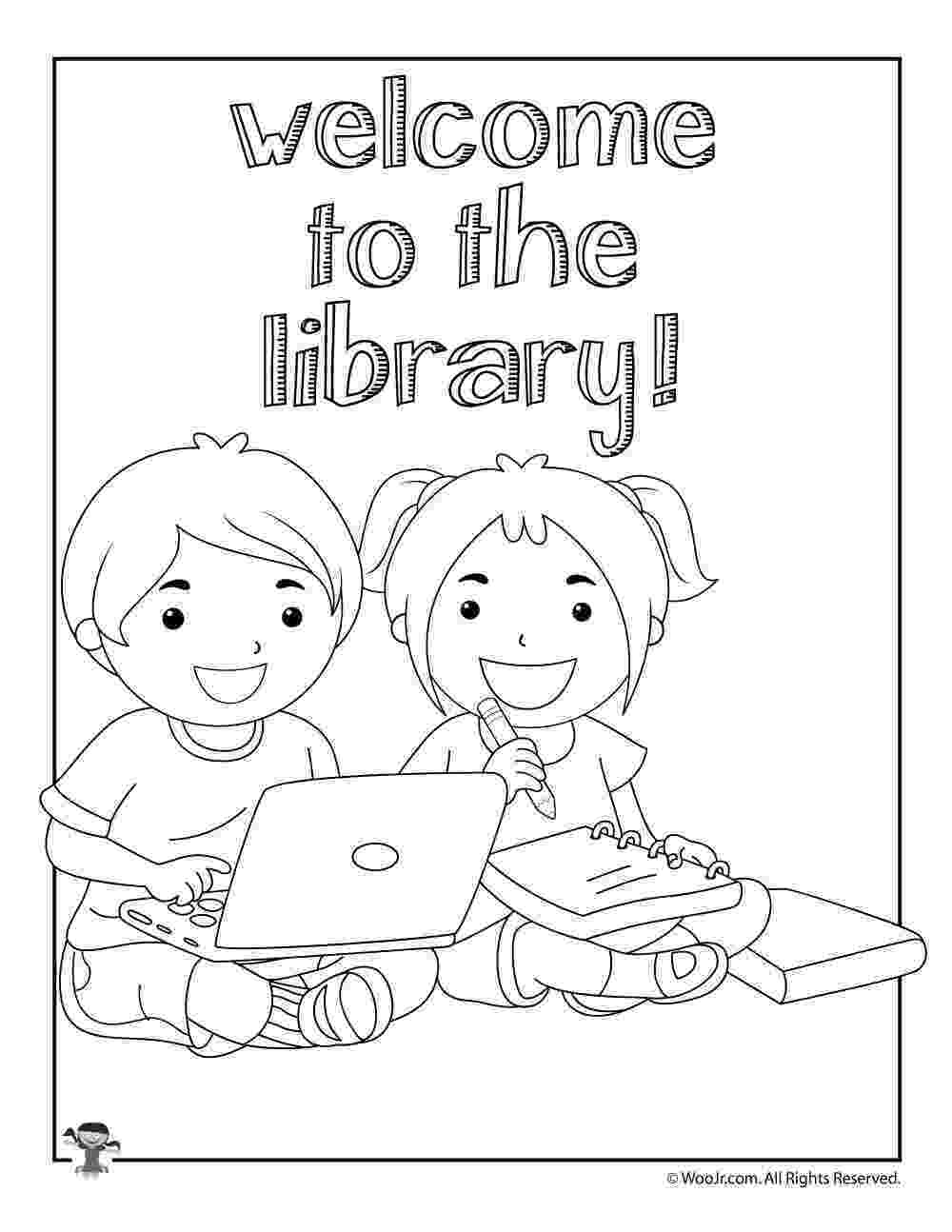 library coloring pages library be quiet please coloring pages download print pages library coloring