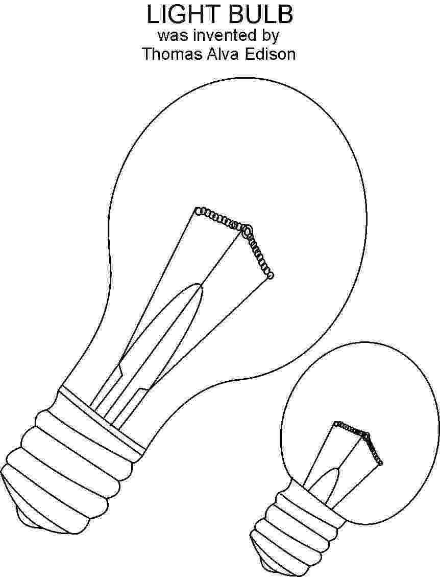 light bulb printable light bulb printable bulb light printable