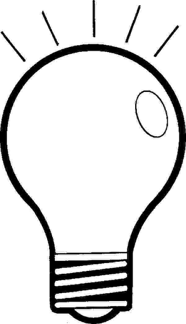 light bulb printable silhouette design store view design 85553 outlined light printable bulb