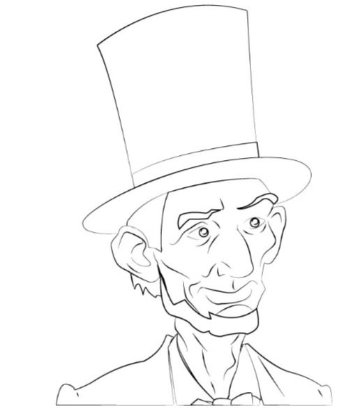 lincoln coloring page george washington39s portrait coloring page page lincoln coloring
