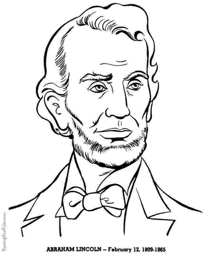 lincoln coloring page president abraham lincoln coloring pages hellokidscom page lincoln coloring