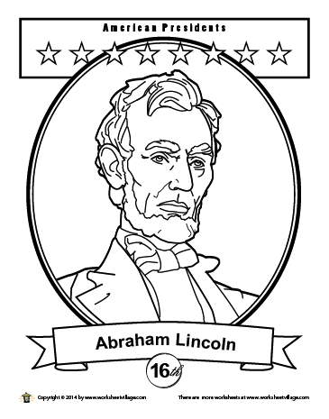 lincoln coloring page printable list of presidents of the united states of coloring page lincoln