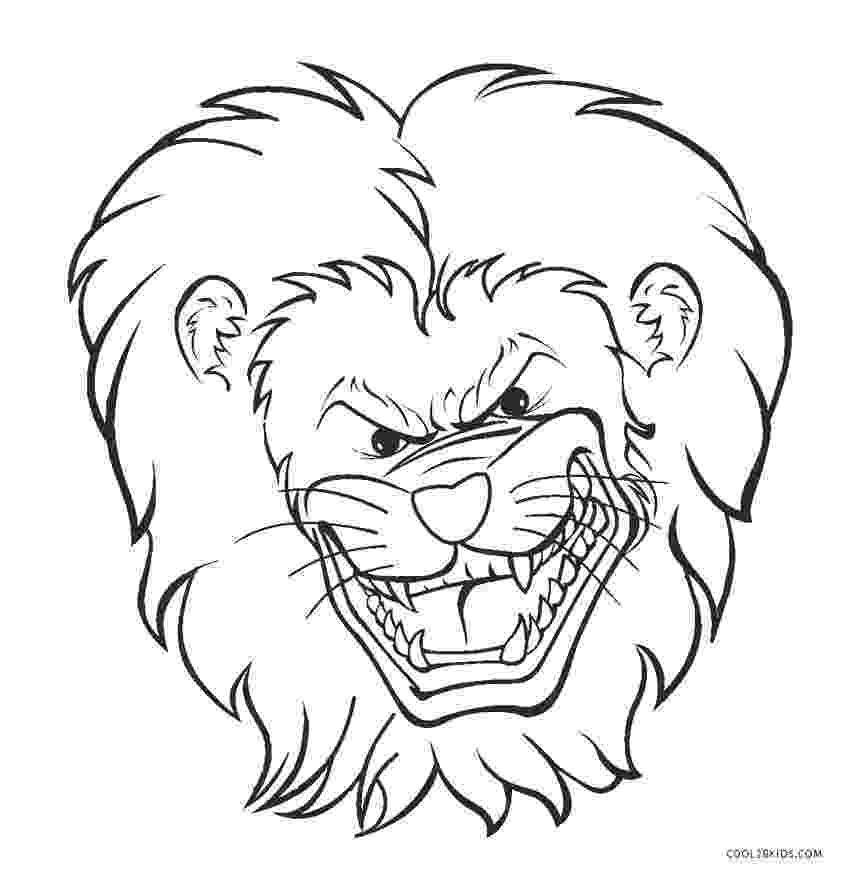 lion face coloring page free printable lion coloring pages for kids cool2bkids face lion page coloring