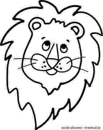 lion face coloring page lion coloring pages getcoloringpagescom lion coloring face page