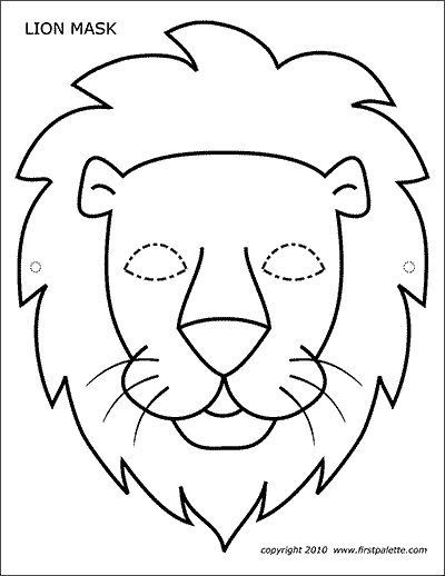 lion face coloring page lion mask free printable templates coloring pages page lion face coloring