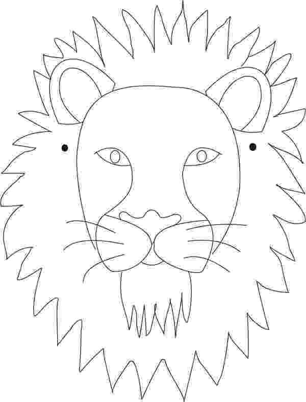 lion face coloring page lion mask printable coloring page for kids page lion coloring face