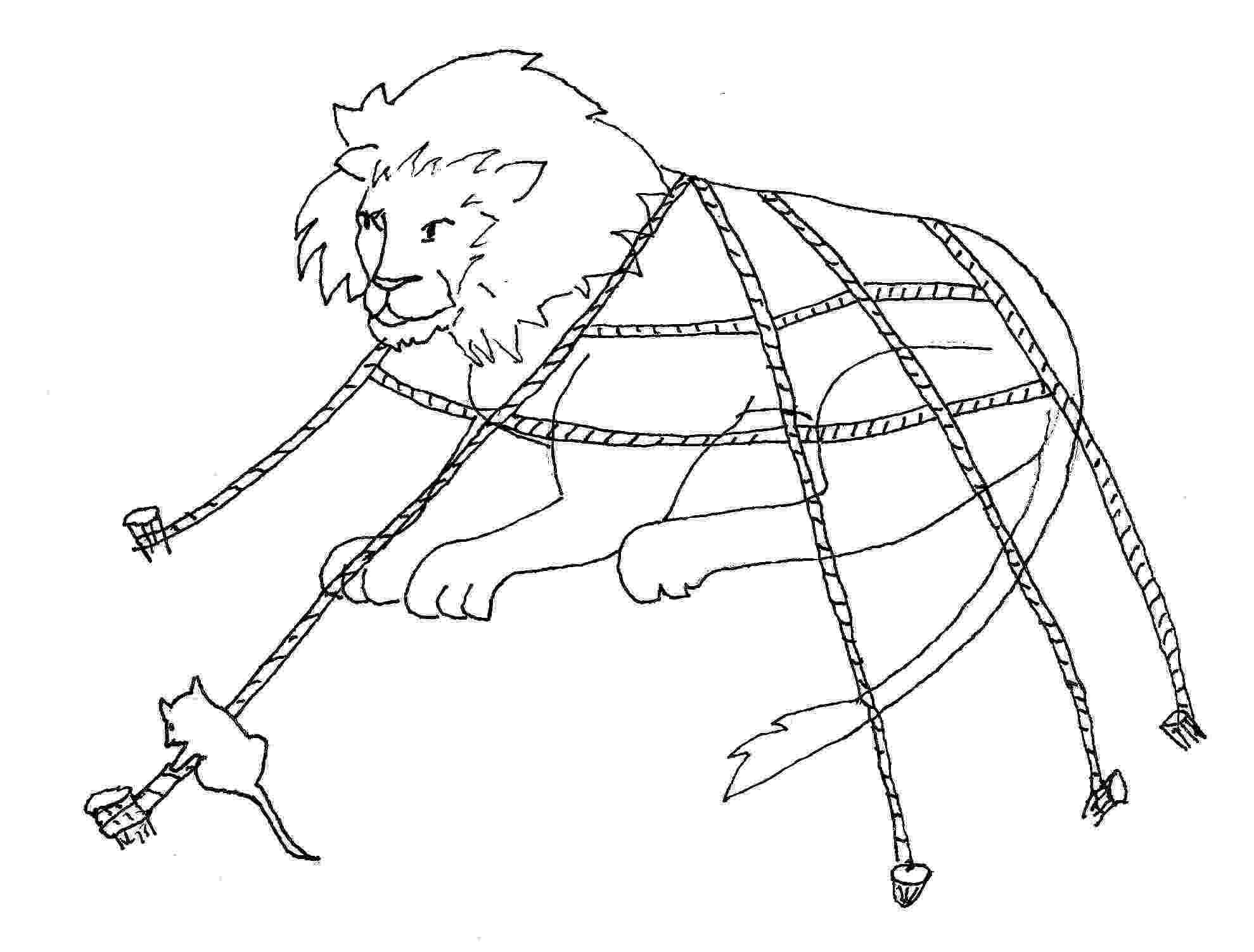 lion trapped in a net lion and mouse stock images royalty free images vectors a lion net in trapped