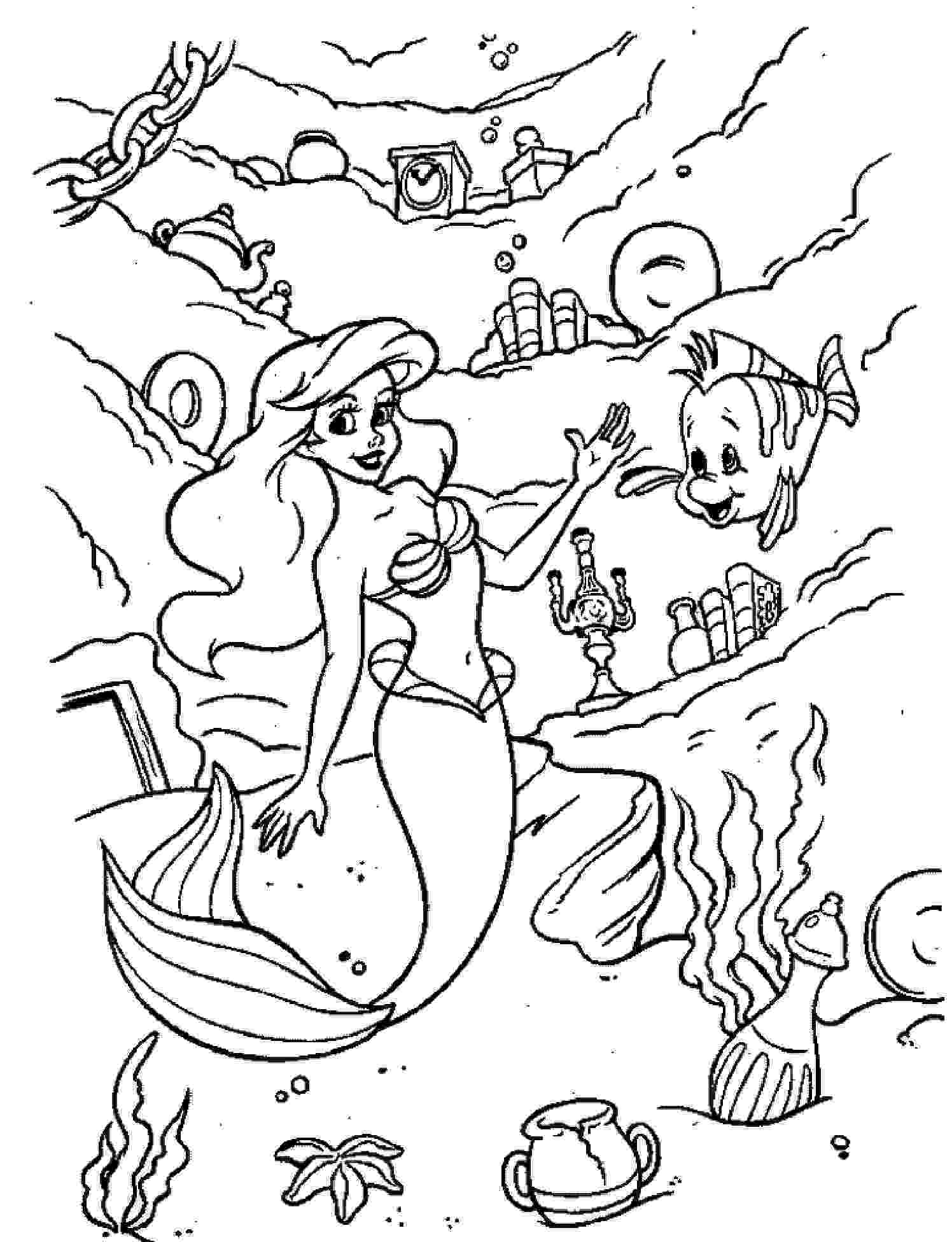 little mermaid coloring sheet little mermaid coloring pages learn to coloring sheet mermaid coloring little