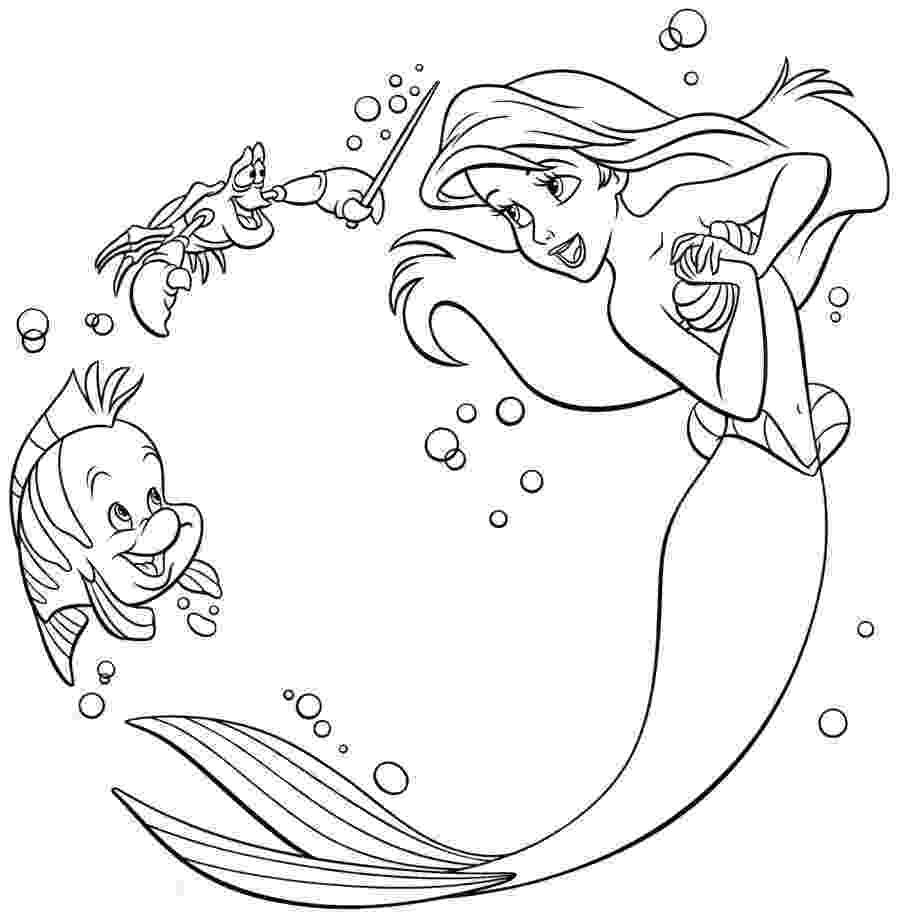 little mermaid coloring sheet the little mermaid coloring pages 2 disneyclipscom sheet coloring little mermaid
