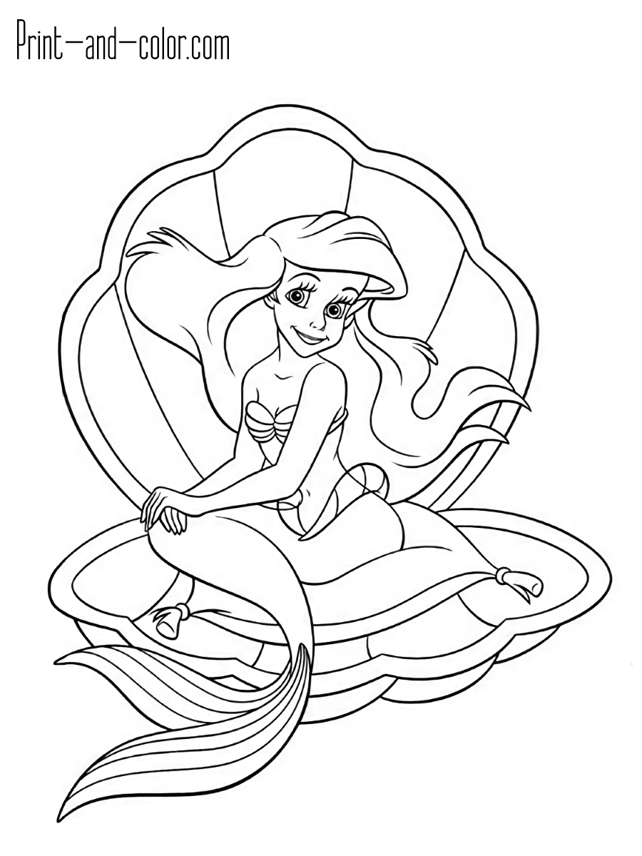 little mermaid coloring sheet the little mermaid coloring pages print and colorcom mermaid little coloring sheet