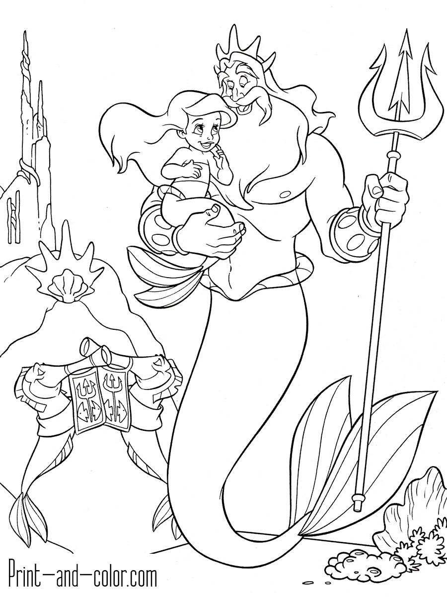 little mermaid coloring sheet the little mermaid coloring pages to download and print sheet mermaid little coloring