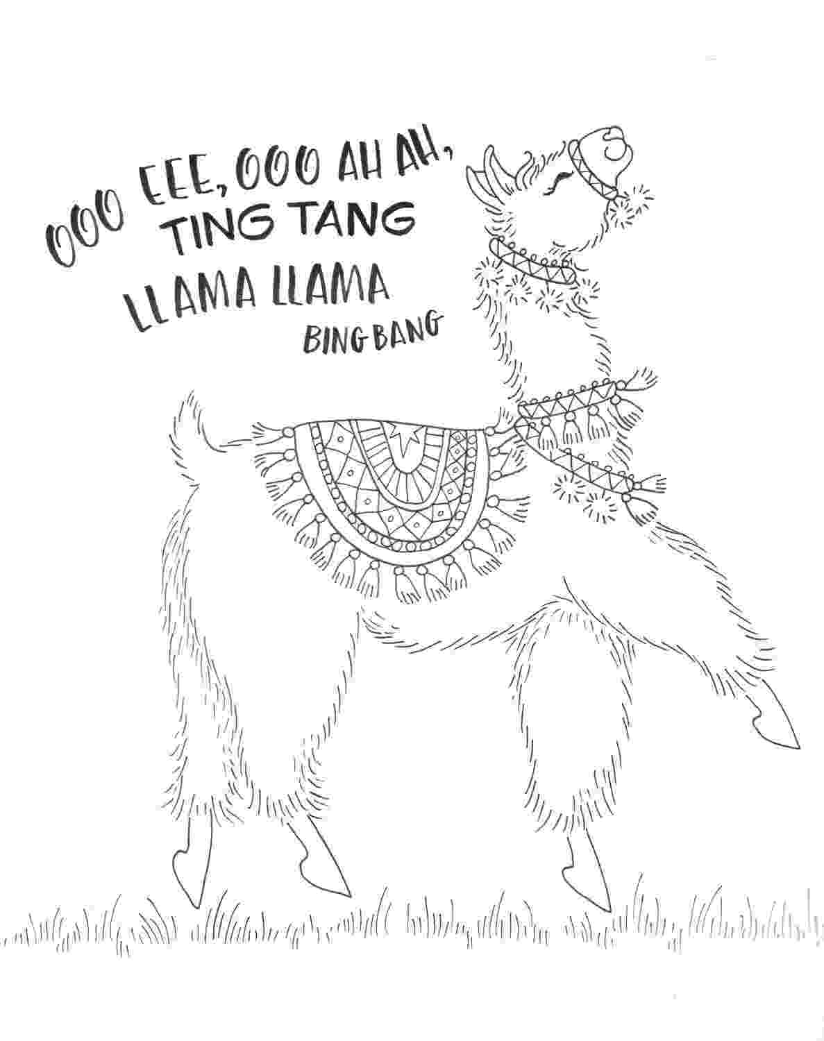 llama coloring pages coloring a dancing llama with new colored pencils tombow pages coloring llama