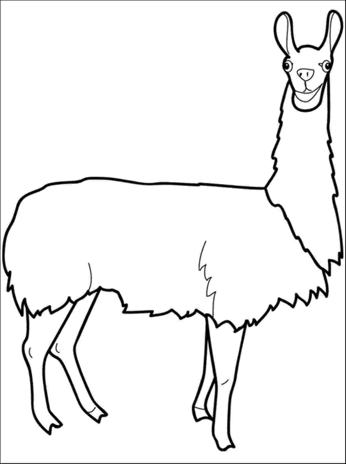 llama coloring pages fa la la llama coloring page crayolacom coloring pages llama