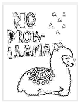 llama coloring pages no prob llama printablecoloring page by falalalearning tpt coloring llama pages