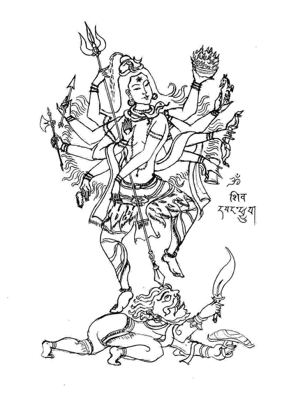lord shiva colouring pages free coloring page coloring adult shiva 8 bras lord shiva shiva colouring pages lord