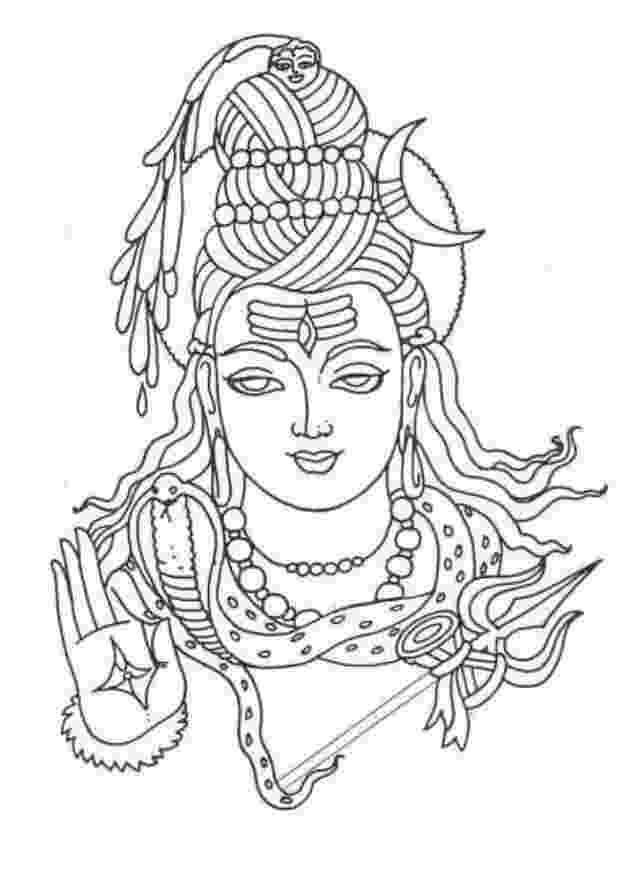 lord shiva colouring pages hindu mythology 7 gods and goddesses printable shiva pages lord colouring