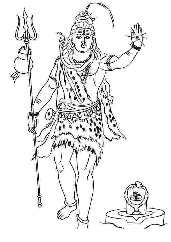 lord shiva colouring pages hinduism coloring pages lord shiva standing printable lord pages colouring shiva