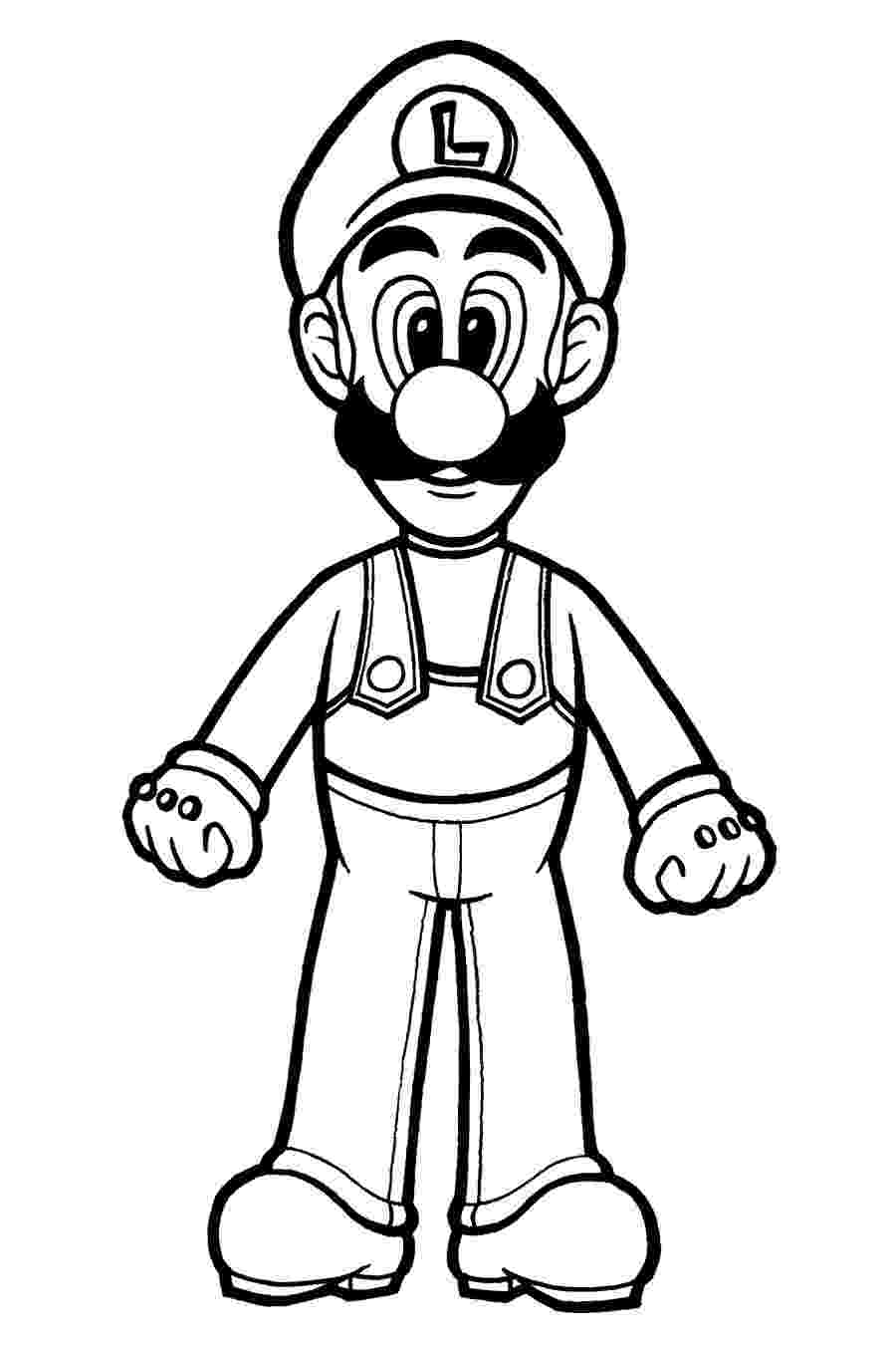luigi coloring page luigi coloring pages coloring pages to print luigi page coloring