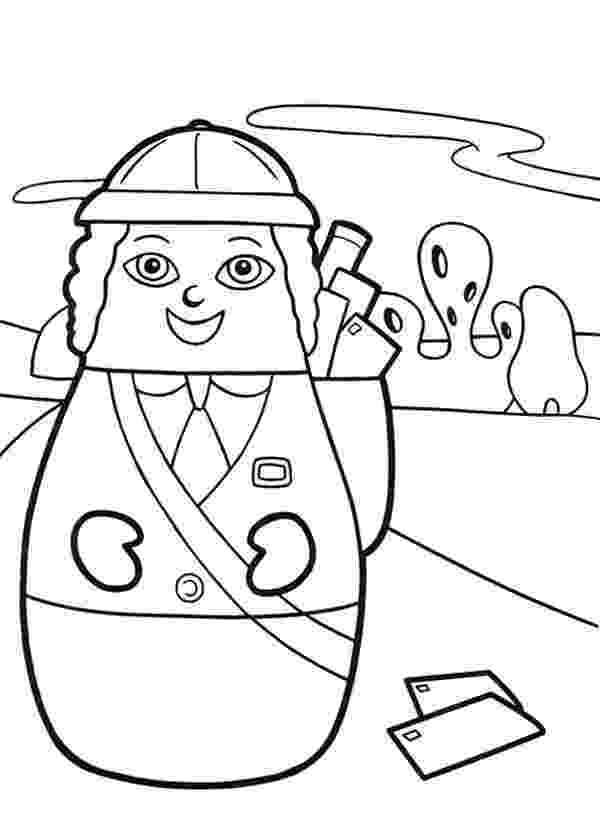 mail carrier coloring page a mail carrier in labor day coloring page color luna coloring mail carrier page
