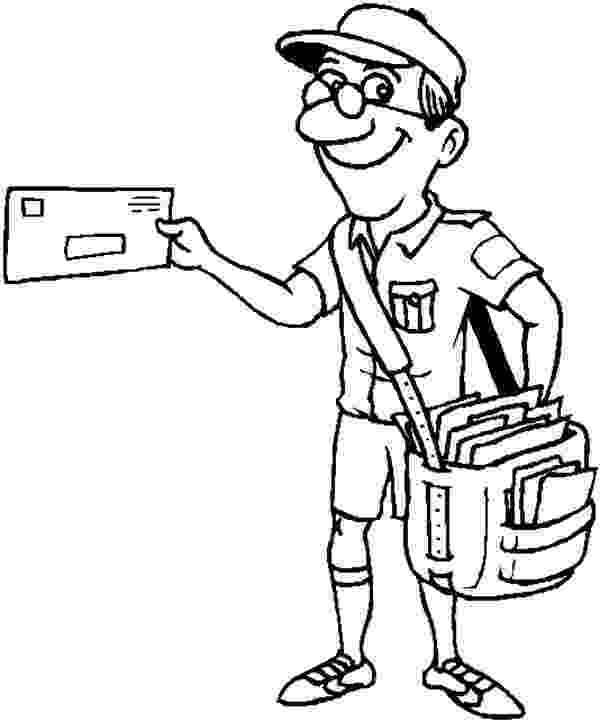 mail carrier coloring page a postal carrier holds a envelope coloring page free page carrier mail coloring