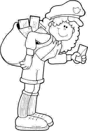 mail carrier coloring page kindergarten mail carrier unit confessions of a homeschooler carrier page coloring mail
