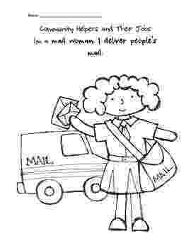 mail carrier coloring page mail carrier coloring page sketch coloring page mail page carrier coloring