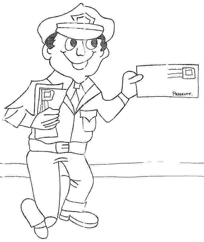 mail carrier coloring page mail carrier coloring pages coloring pages carrier mail page coloring