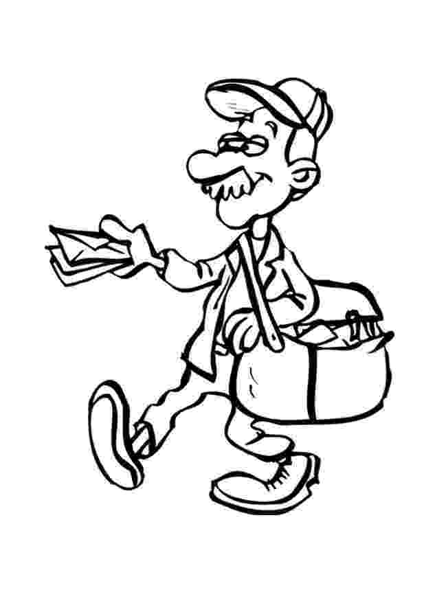 mail carrier coloring page mail carrier page coloring pages coloring carrier mail page