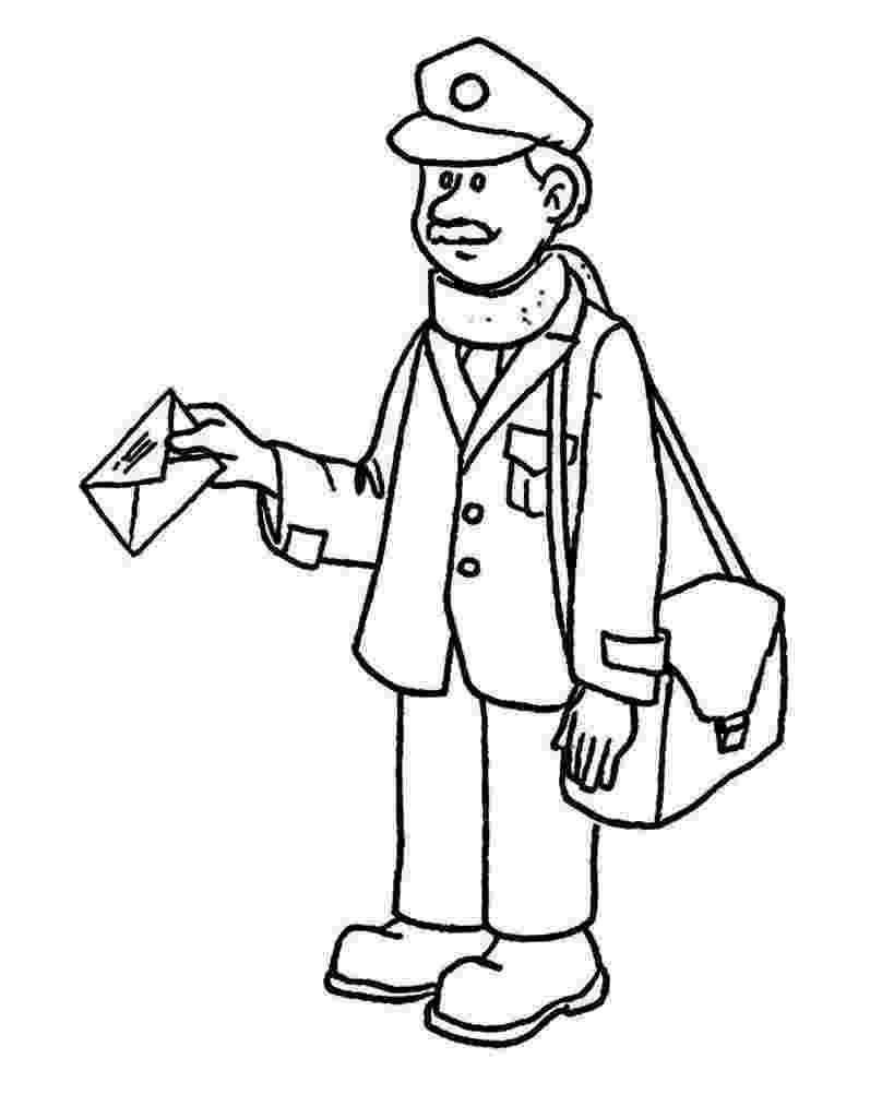 mail carrier coloring page mailman coloring page coloring home carrier coloring page mail