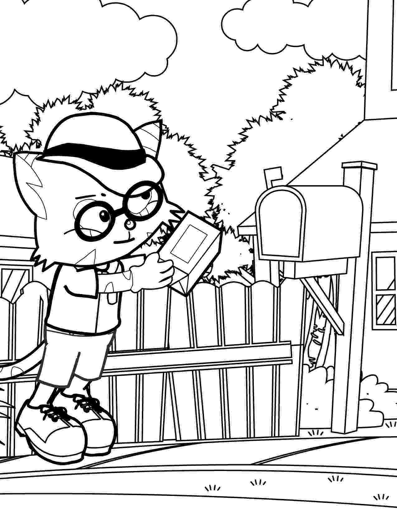 mail carrier coloring page usa printables labor day coloring pages mail carrier mail coloring carrier page