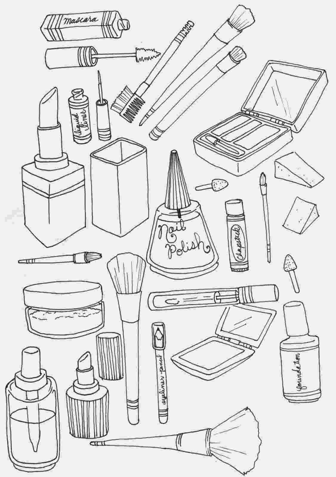 make a coloring page makeup coloring pages beauty products free printable make coloring page a