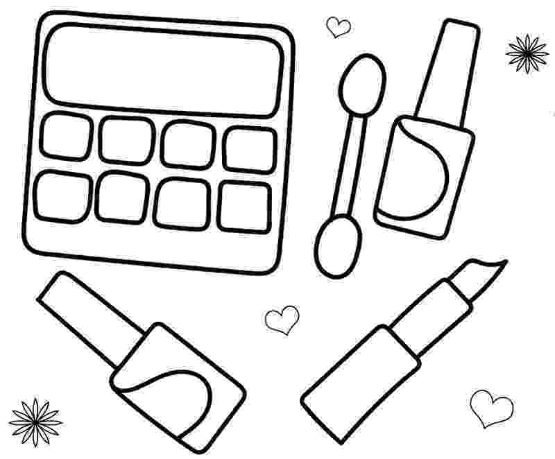 make up colouring pages makeup coloring pages eyeshadow bottle heels free make up pages colouring