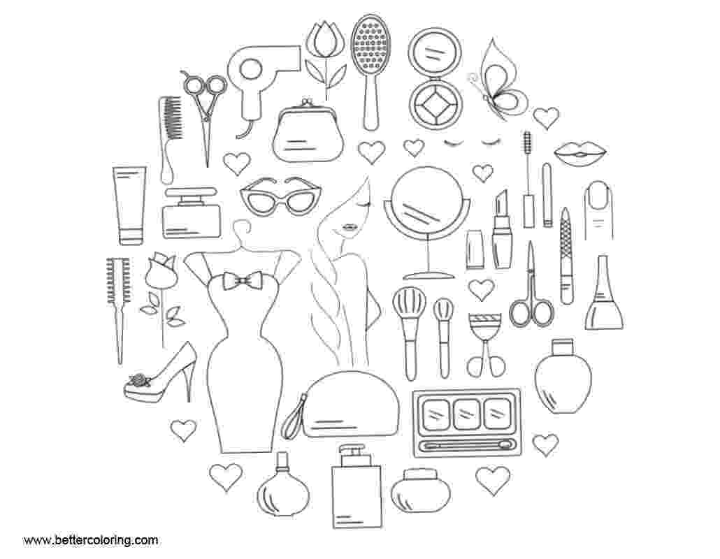make up colouring pages makeup coloring pages make up tools free printable make pages colouring up