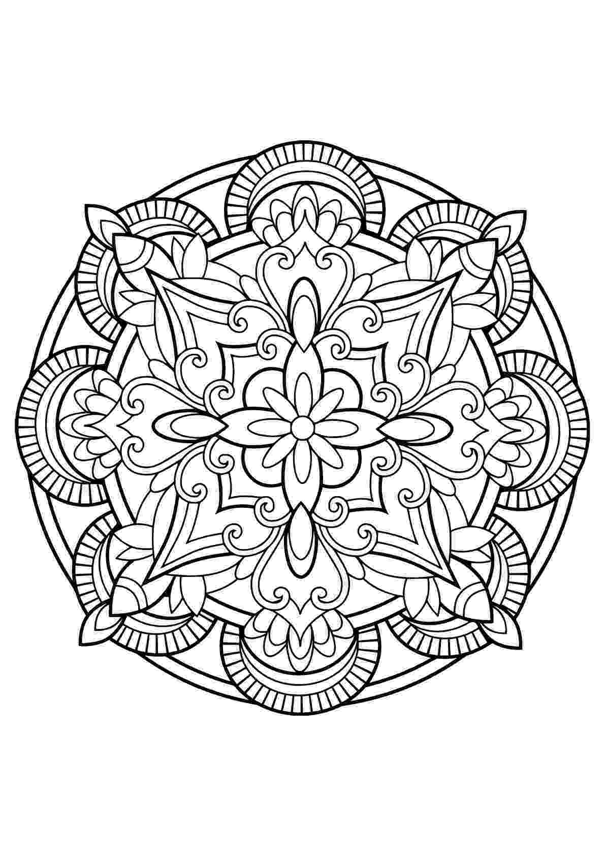 mandala coloring pages for adults free mandalas forming a original flower simple mandalas 100 coloring for adults free mandala pages