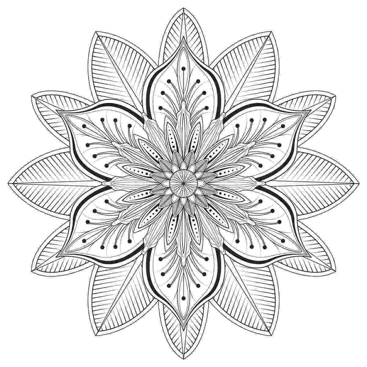 mandala flower flower mandala coloring page free printable coloring pages mandala flower
