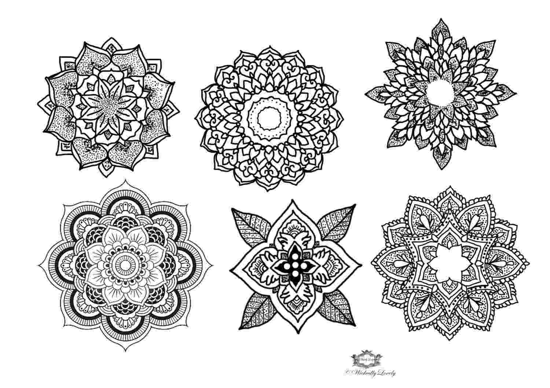mandala flower flower mandala coloring page free printable coloring pages mandala flower 1 1