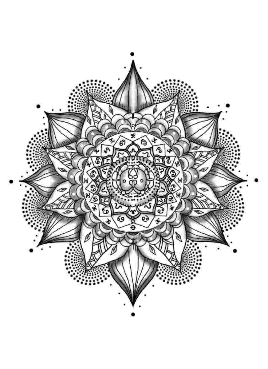 mandala flower flower mandala coloring pages coloringrocks mandala flower