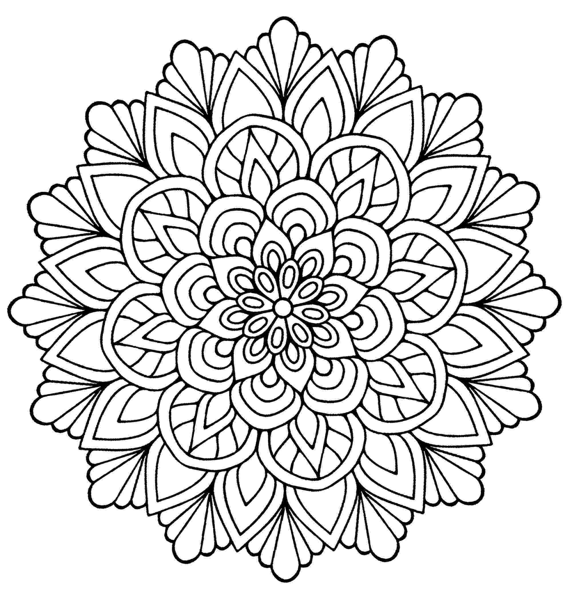 mandala flower flower mandala mandala à colorier coloriage mandala mandala flower