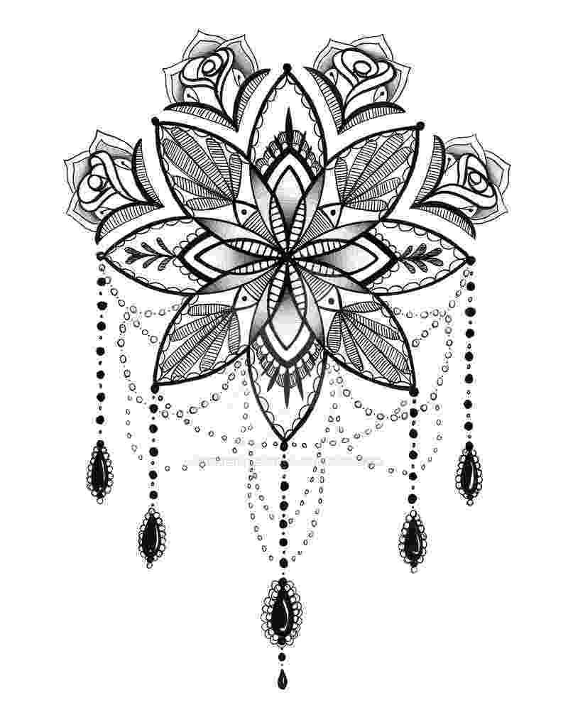 mandala flower upper back mandala flower tattoo for girls mandala flower