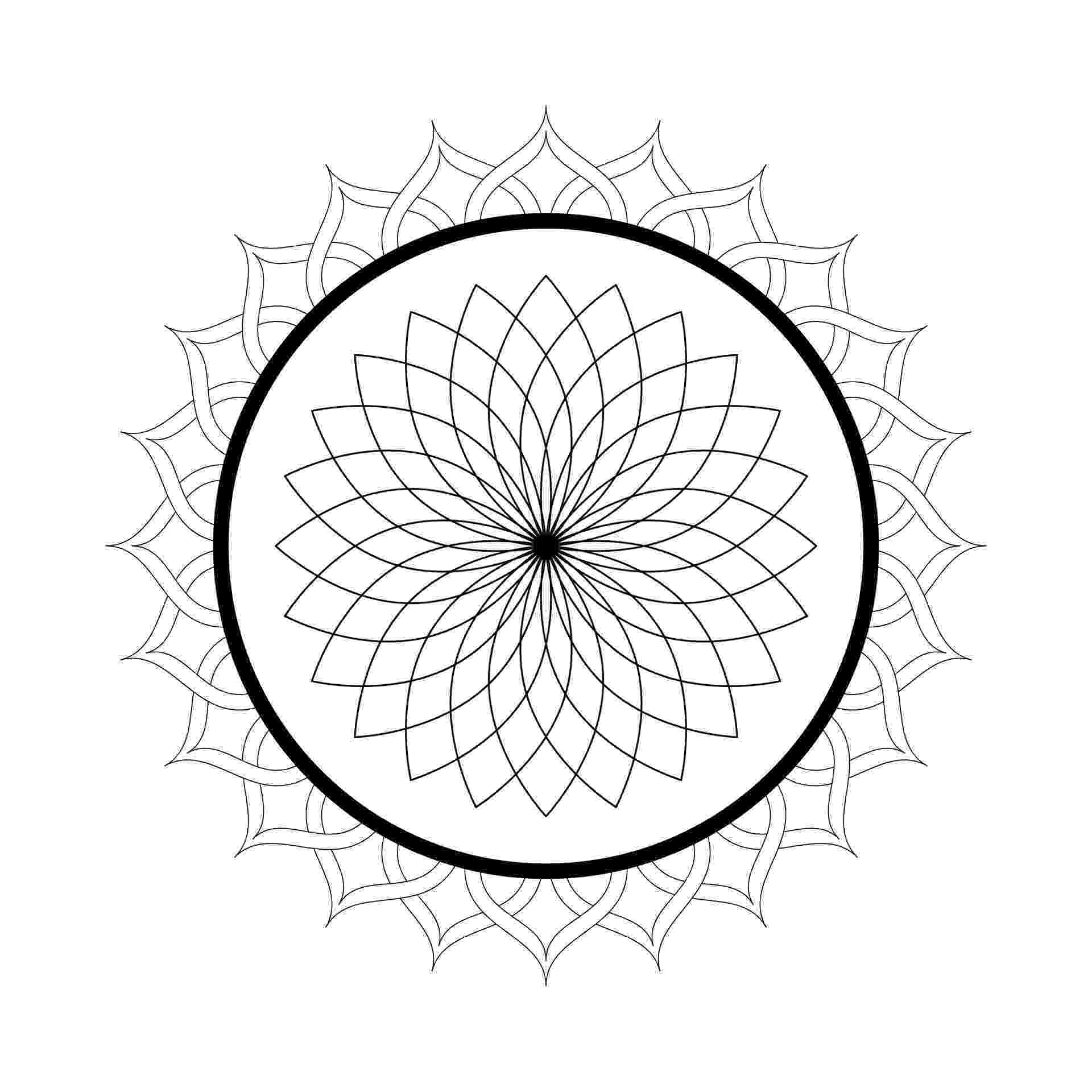 mandala free printable coloring pages printable mandala free