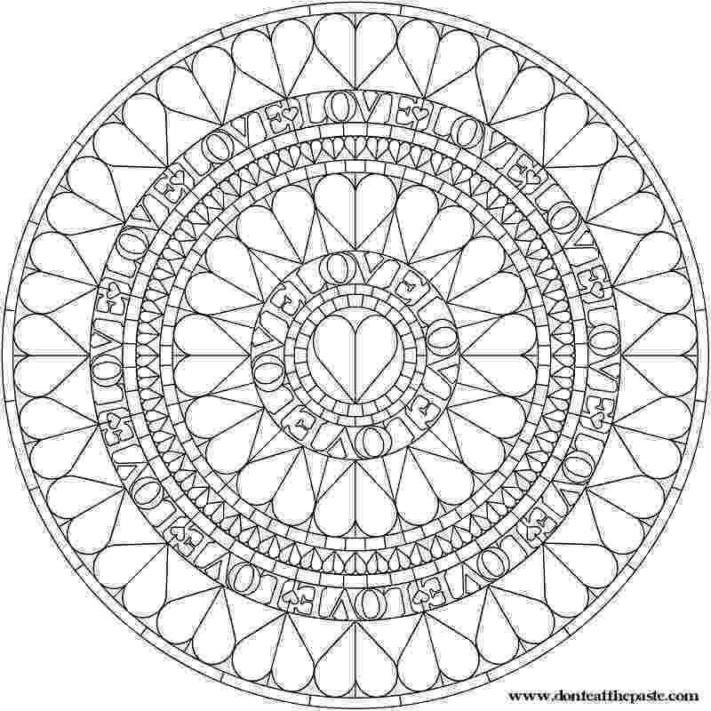 mandala heart doodle heart mandala coloring page stock vector mandala heart