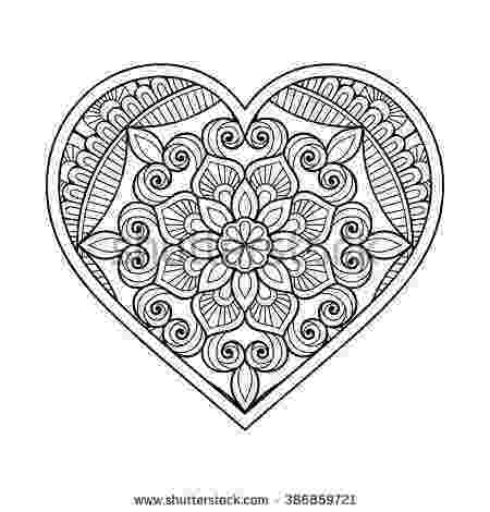 mandala heart doodle heart mandala stock vector illustration of flower mandala heart