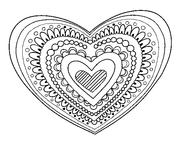 mandala heart give love a valentines day lesson plan from omazing kids heart mandala