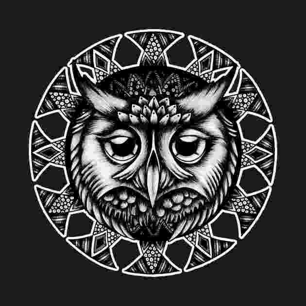 mandala owl magical owl with big eyes mandala mandalas with animals mandala owl