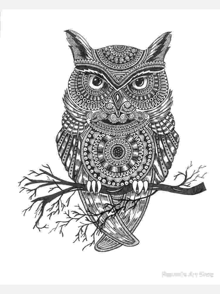mandala owl mandala owl drawing by ava crabbe owl mandala