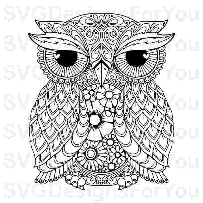 mandala owl mandala style owl svg pdf eps dxf studio 3 cut files owl mandala
