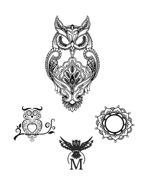 mandala owl owl mandala mandala sticker teepublic owl mandala